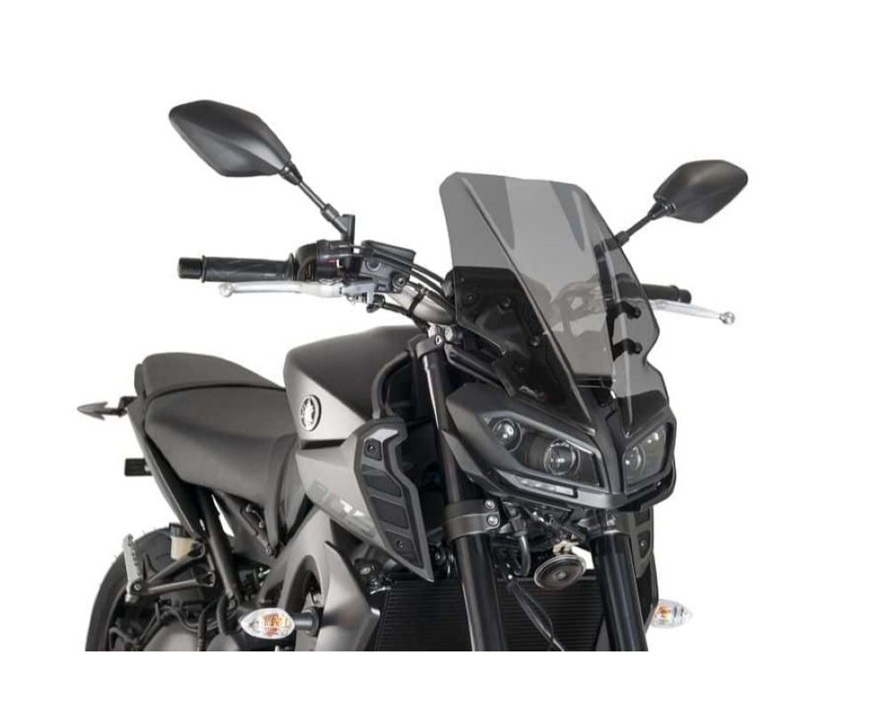 Puig 9377F Naked New Gen Touring Windscreen - Dark Smoke Yamaha MT-09 2017
