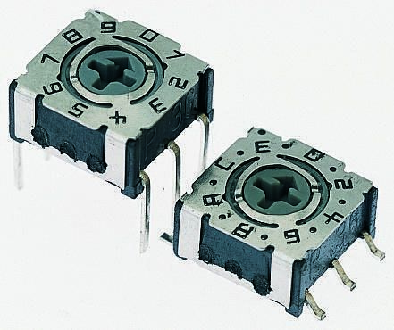 Hartmann 16 Way Surface Mount DIP Switch, Rotary Flush Actuator