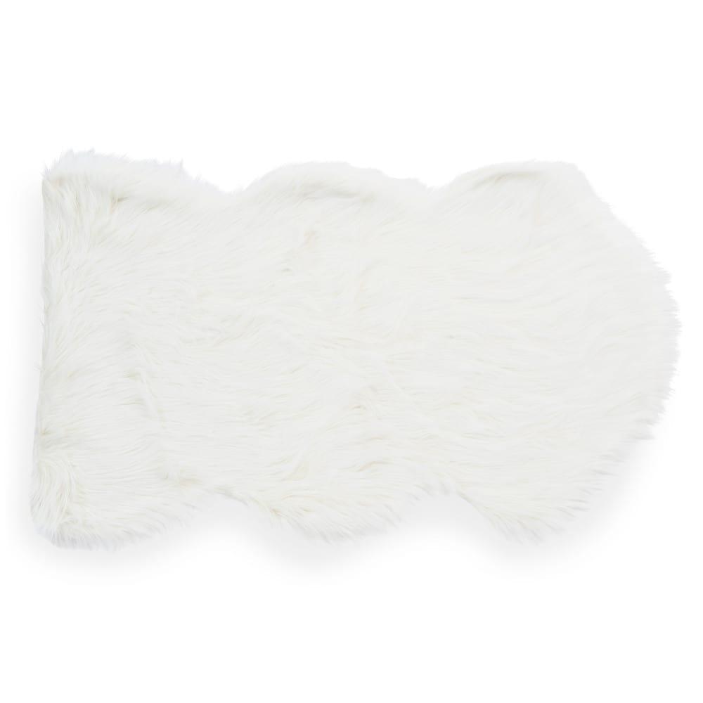 Teppich ESKIMO aus Kunstfell, weiss, 60x100
