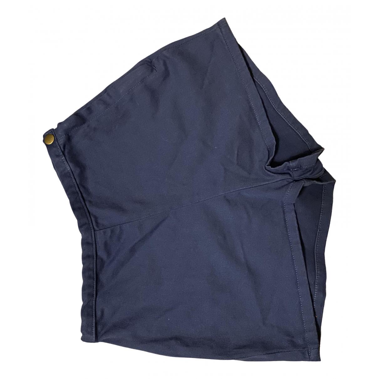 American Apparel - Short   pour femme en coton - elasthane - bleu
