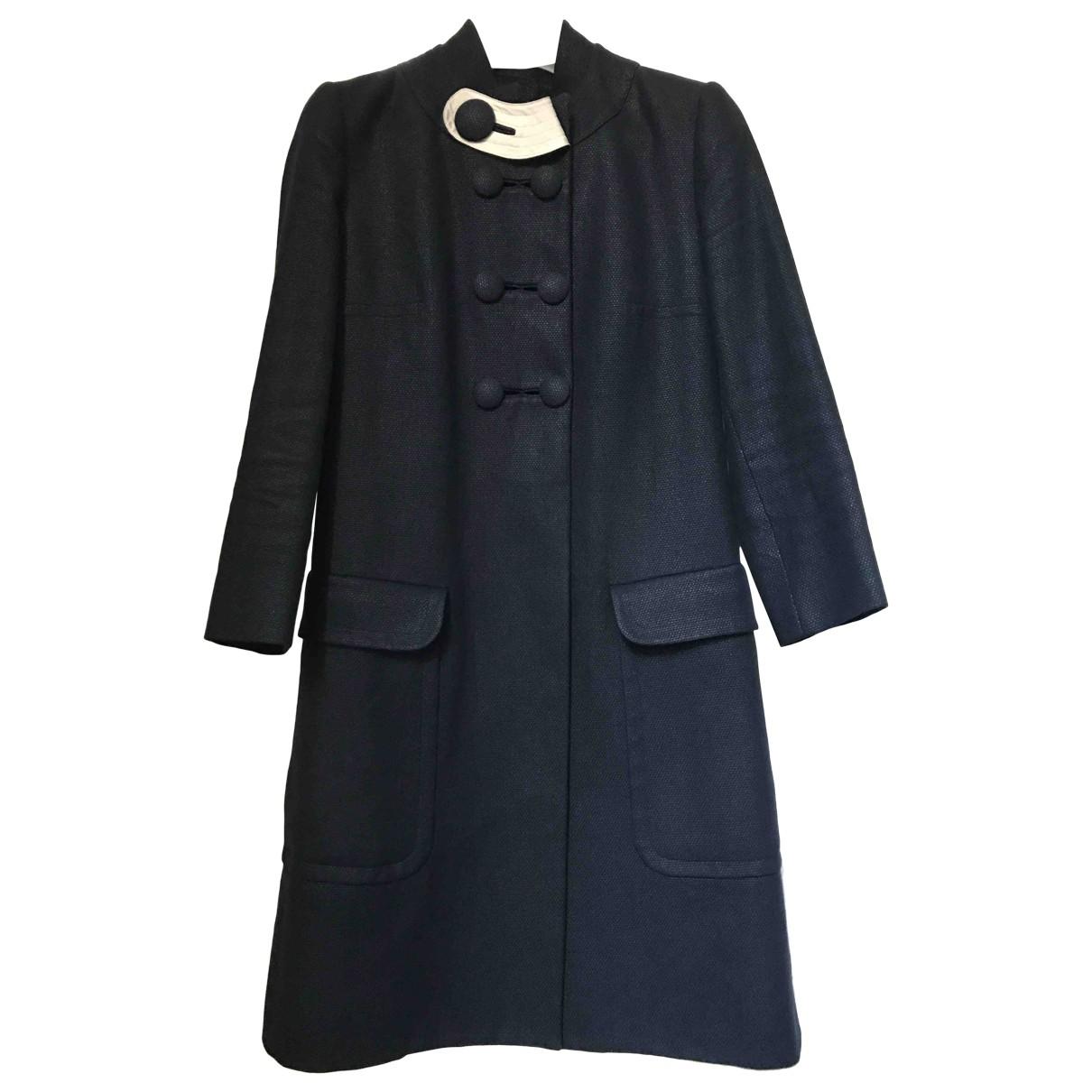 Chloe - Manteau   pour femme en coton - noir