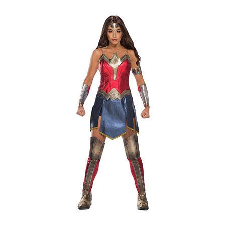Ww2 Movie Wonder Woman Adult Costume Womens Costume, Medium , Red