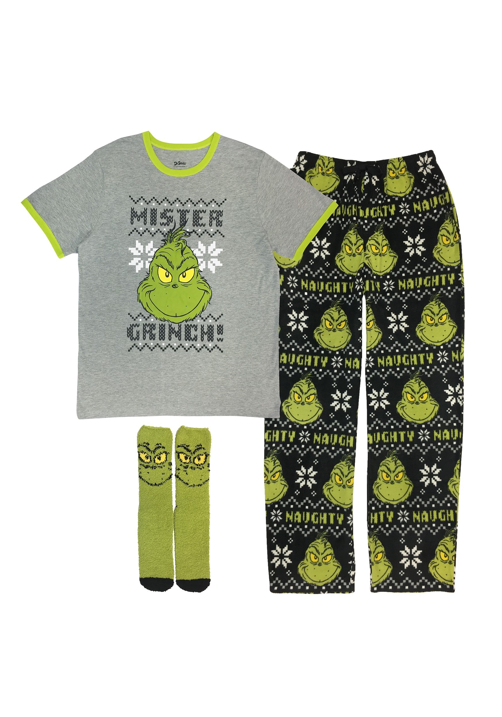 How the Grinch Stole Christmas Mister Grinch Loungewear Set for Men