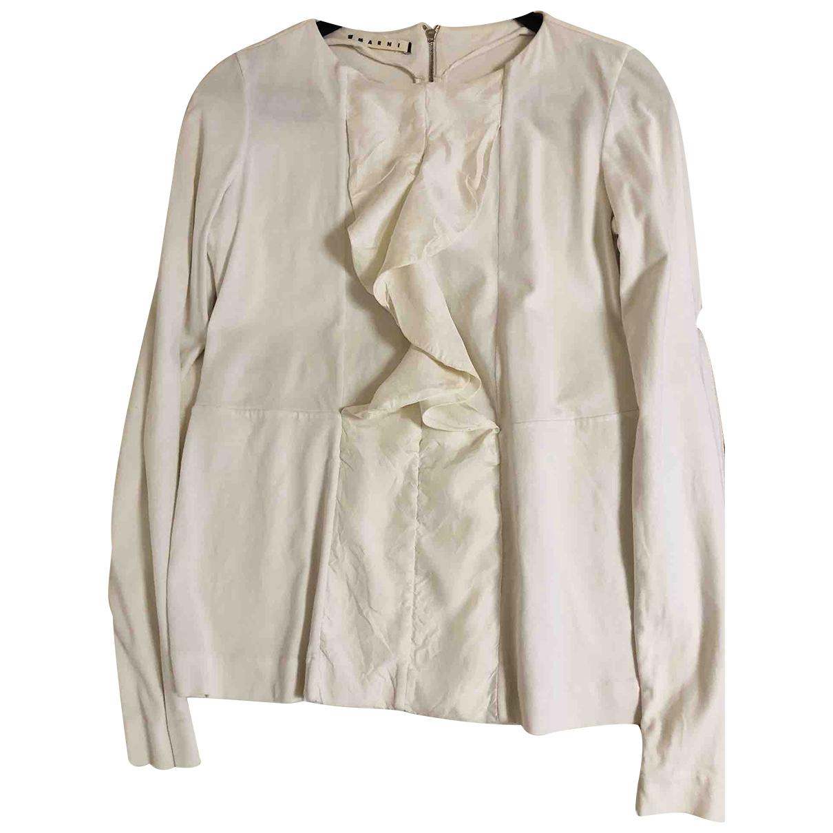 Marni \N White Cotton  top for Women 38 IT