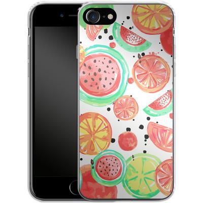Apple iPhone 7 Silikon Handyhuelle - Fruit Crush von Mukta Lata Barua