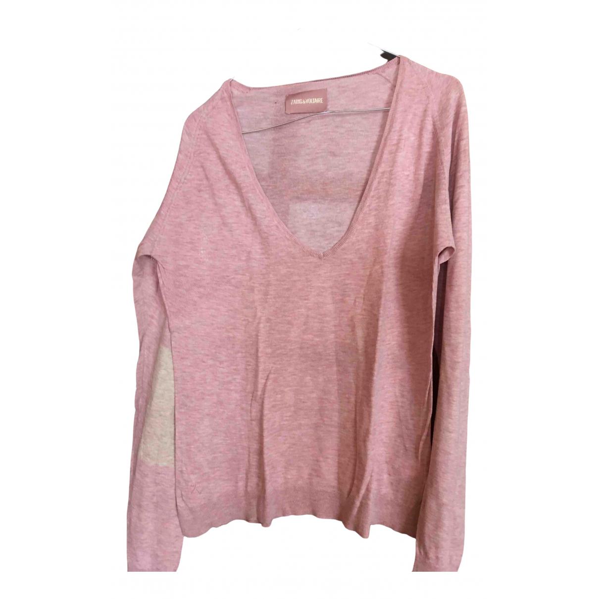 Zadig & Voltaire - Pull   pour femme en coton - rose