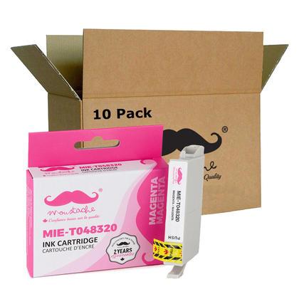 Compatible Epson T048320 cartouche d'encre magenta - Moustache - 10/paquet