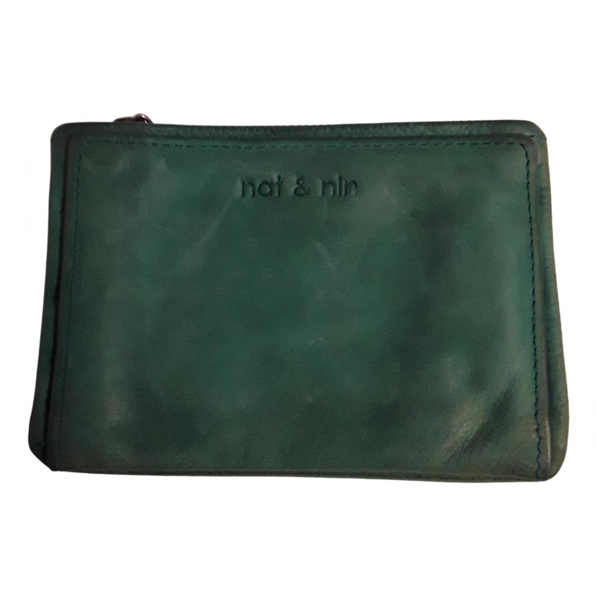 Nat & Nin - Petite maroquinerie   pour femme en cuir - vert