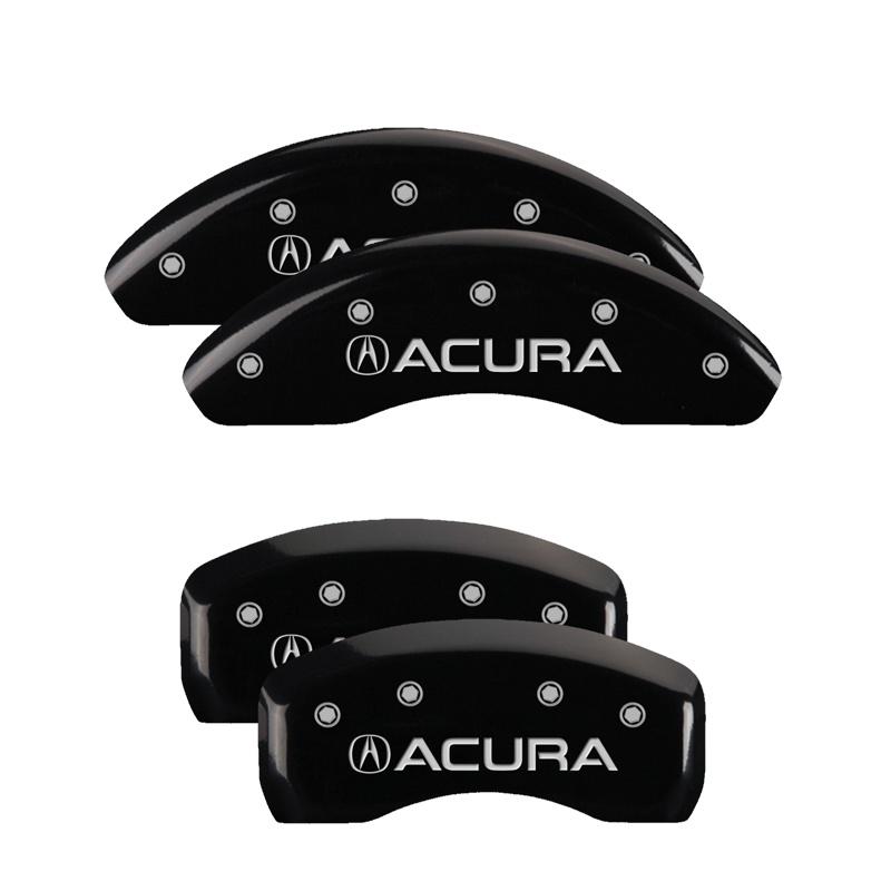 MGP Caliper Covers 39008SACUBK Set of 4: Black finish, Silver Acura / Acura Acura NSX 2002-2005