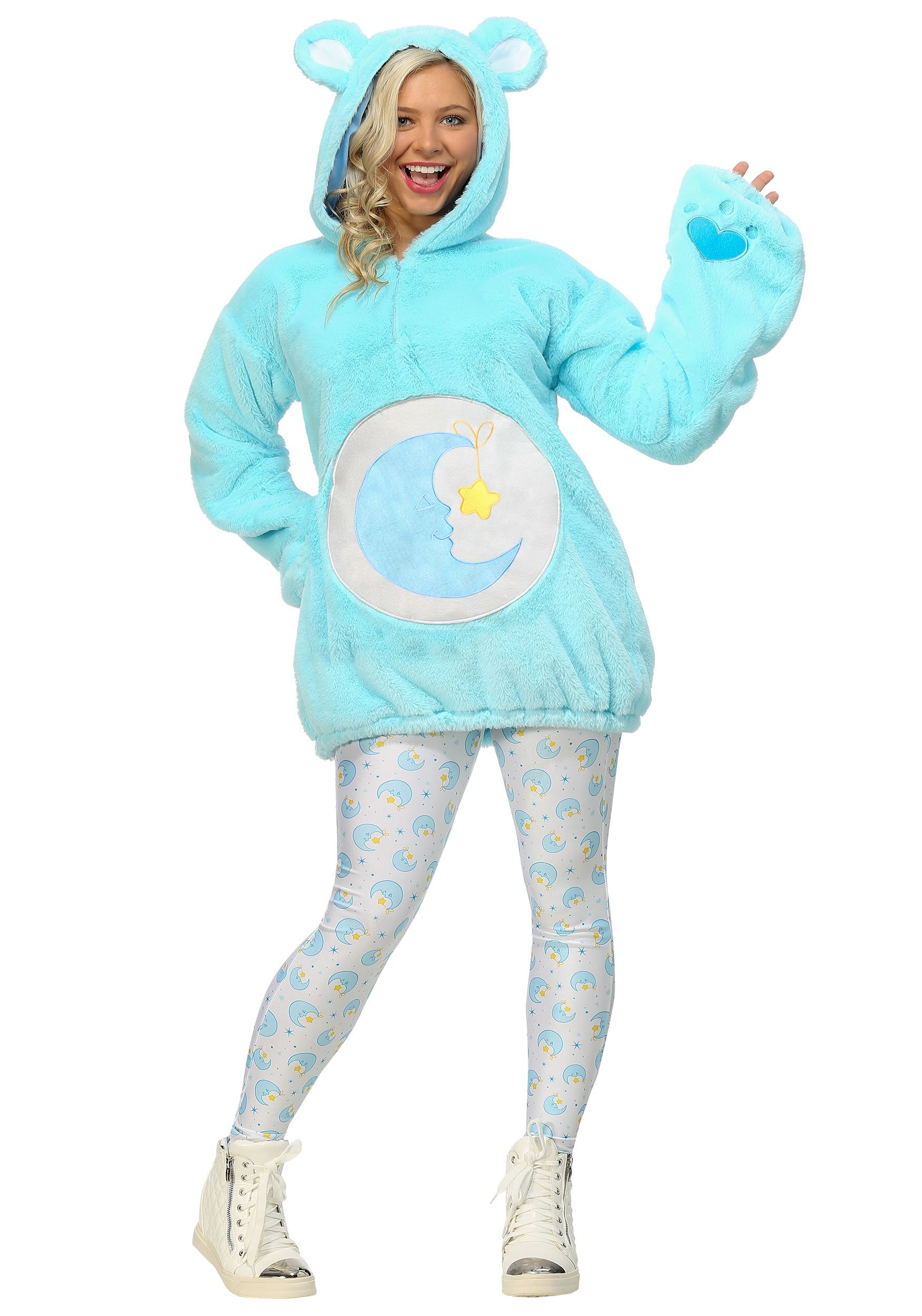 Care Bears Deluxe Bedtime Bear Hoodie Costume for Women