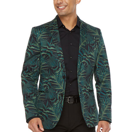 JF J.Ferrar Mens Stretch Regular Fit Sport Coat - Slim, 38 Short, Green