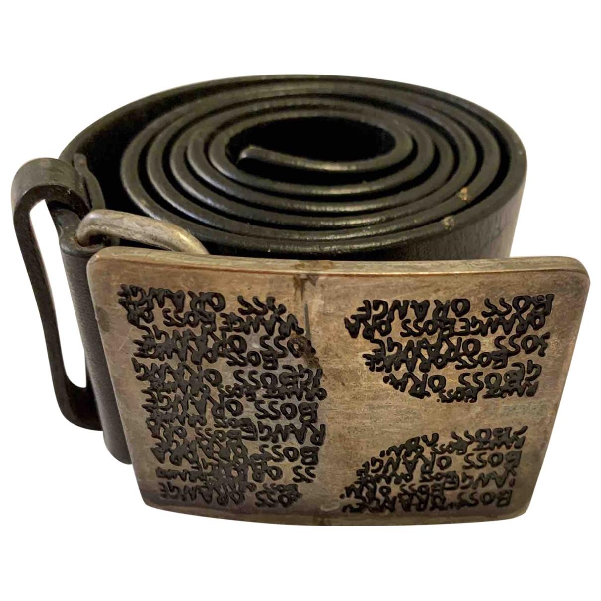 Hugo Boss \N Black Leather belt for Men 100 cm