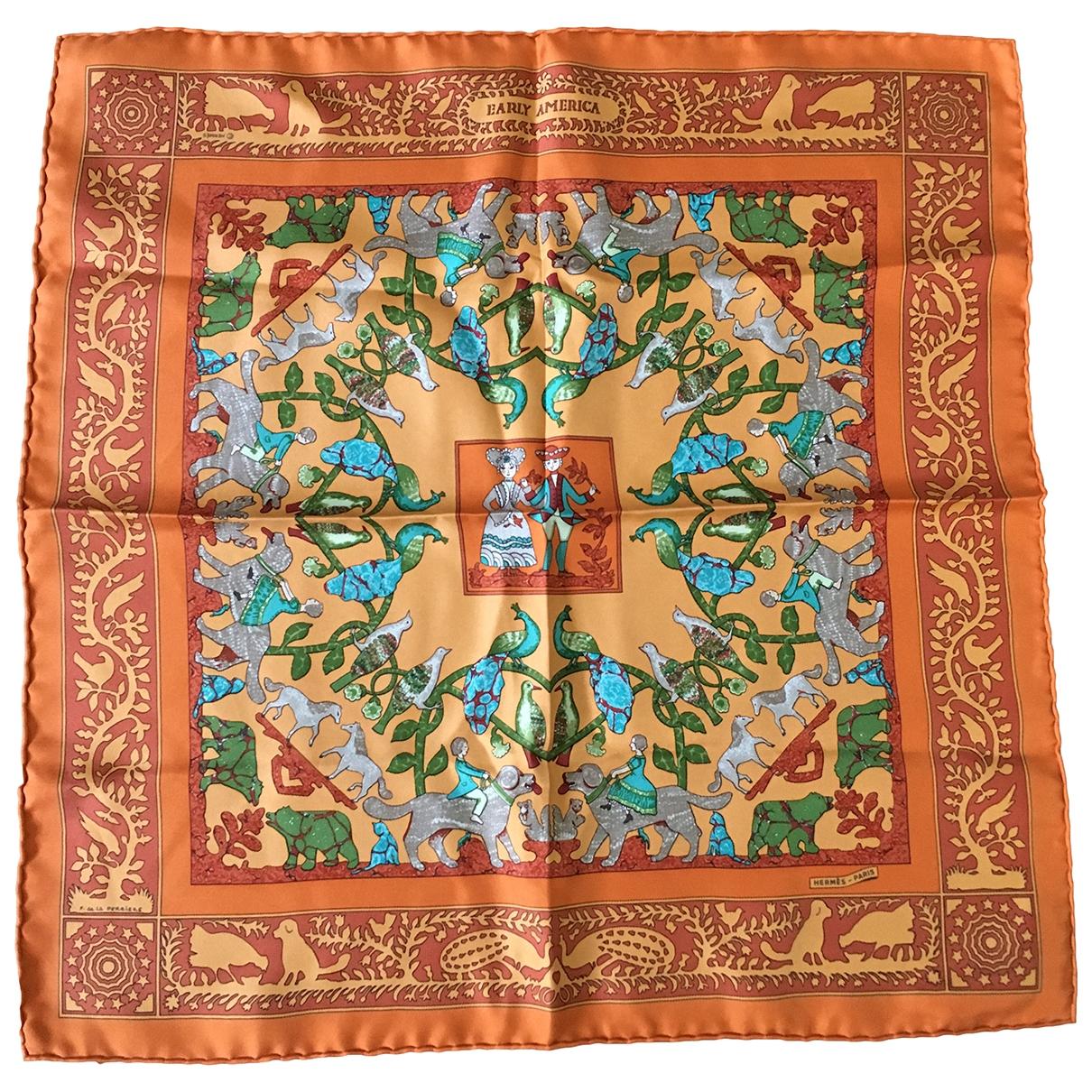 Hermes - Foulard Gavroche 45 pour femme en soie - orange