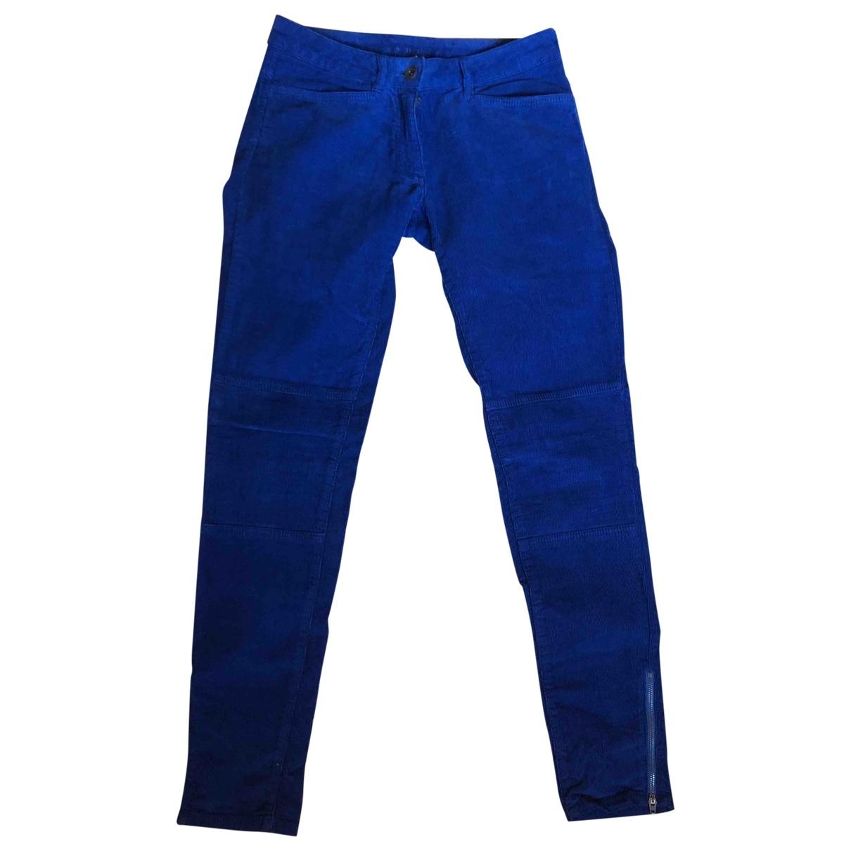 Pantalon en Algodon Azul Sandro
