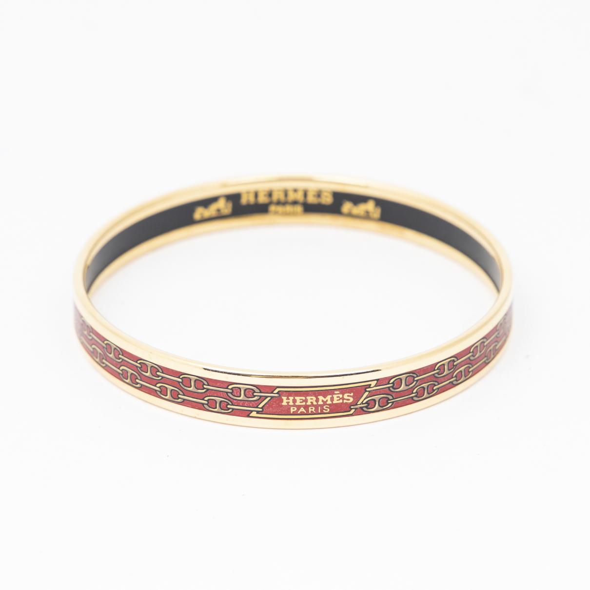 Hermes \N Armband in  Rot Metall