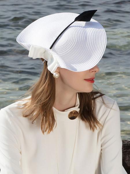 Milanoo Vintage Costume Hat Womens Bow Retro Hatinator Halloween