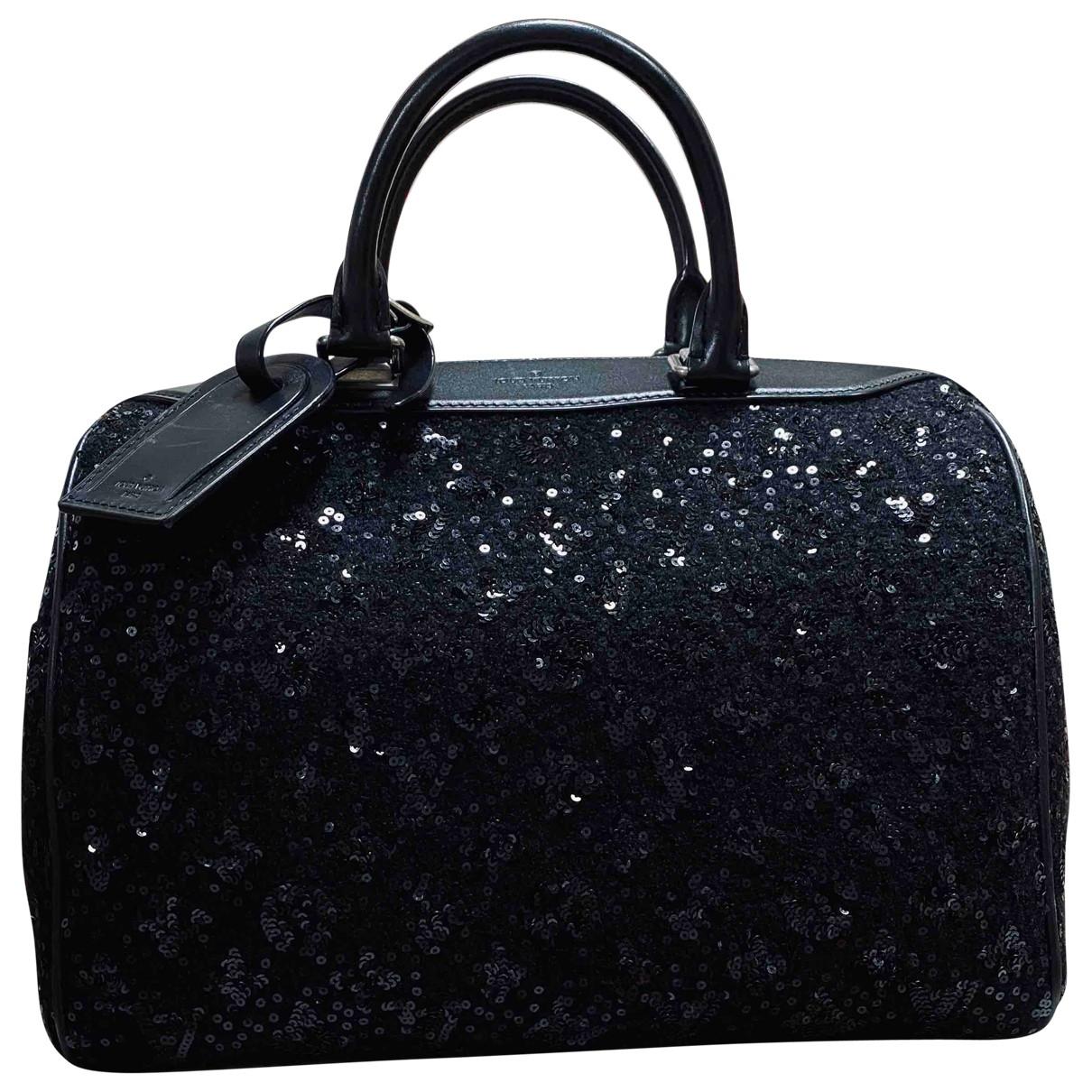Louis Vuitton Speedy Black Glitter handbag for Women \N