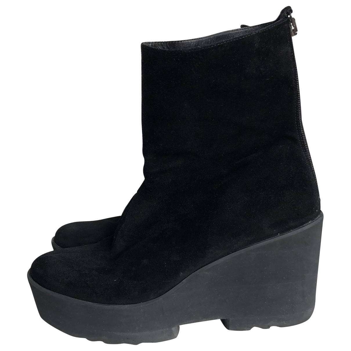 Paloma Barcelo \N Black Suede Ankle boots for Women 41 EU