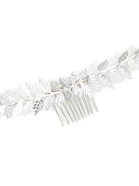 Milanoo Casco de boda peine de metal de metal nupcial accesorios para el cabello