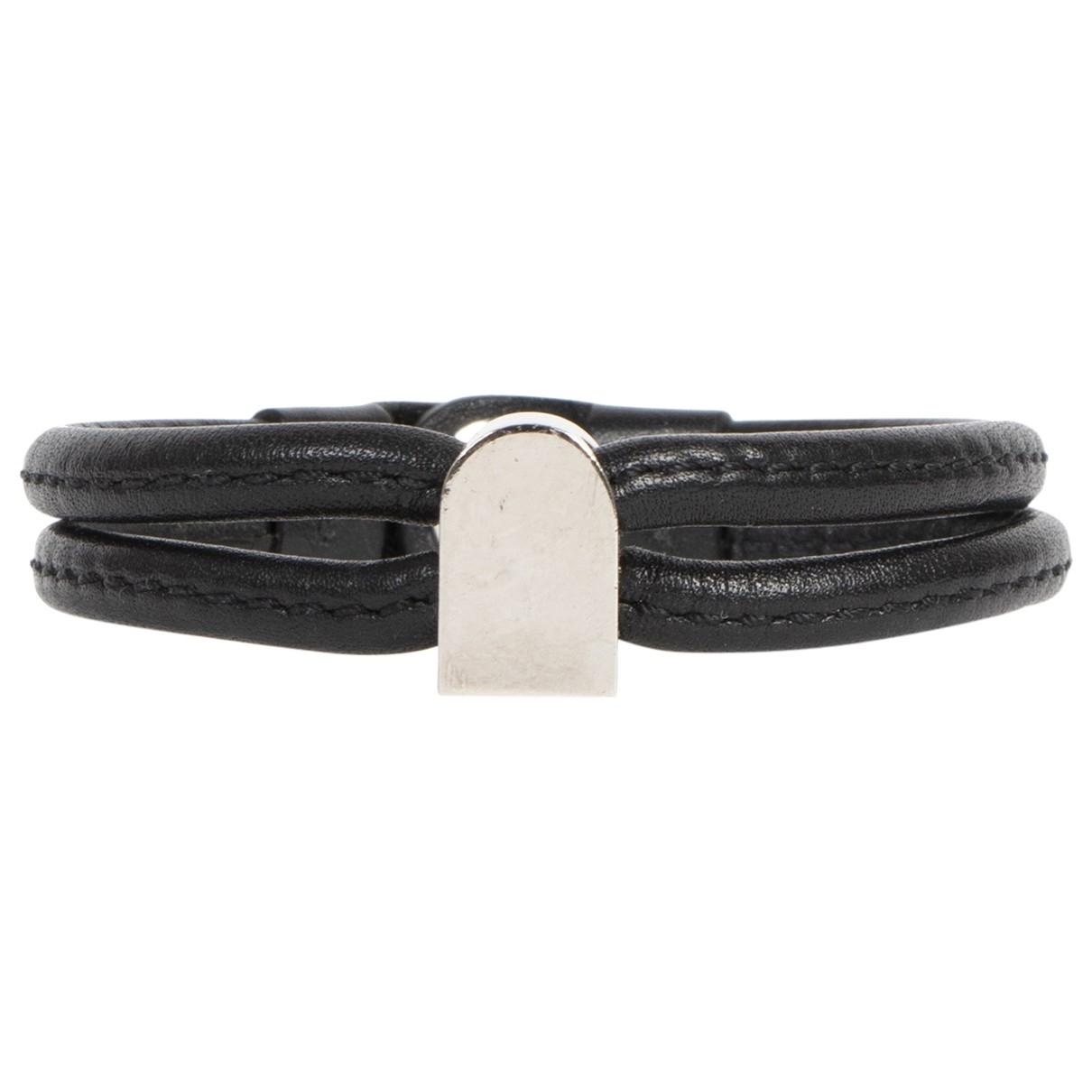 Delvaux - Bracelet   pour femme en cuir - noir