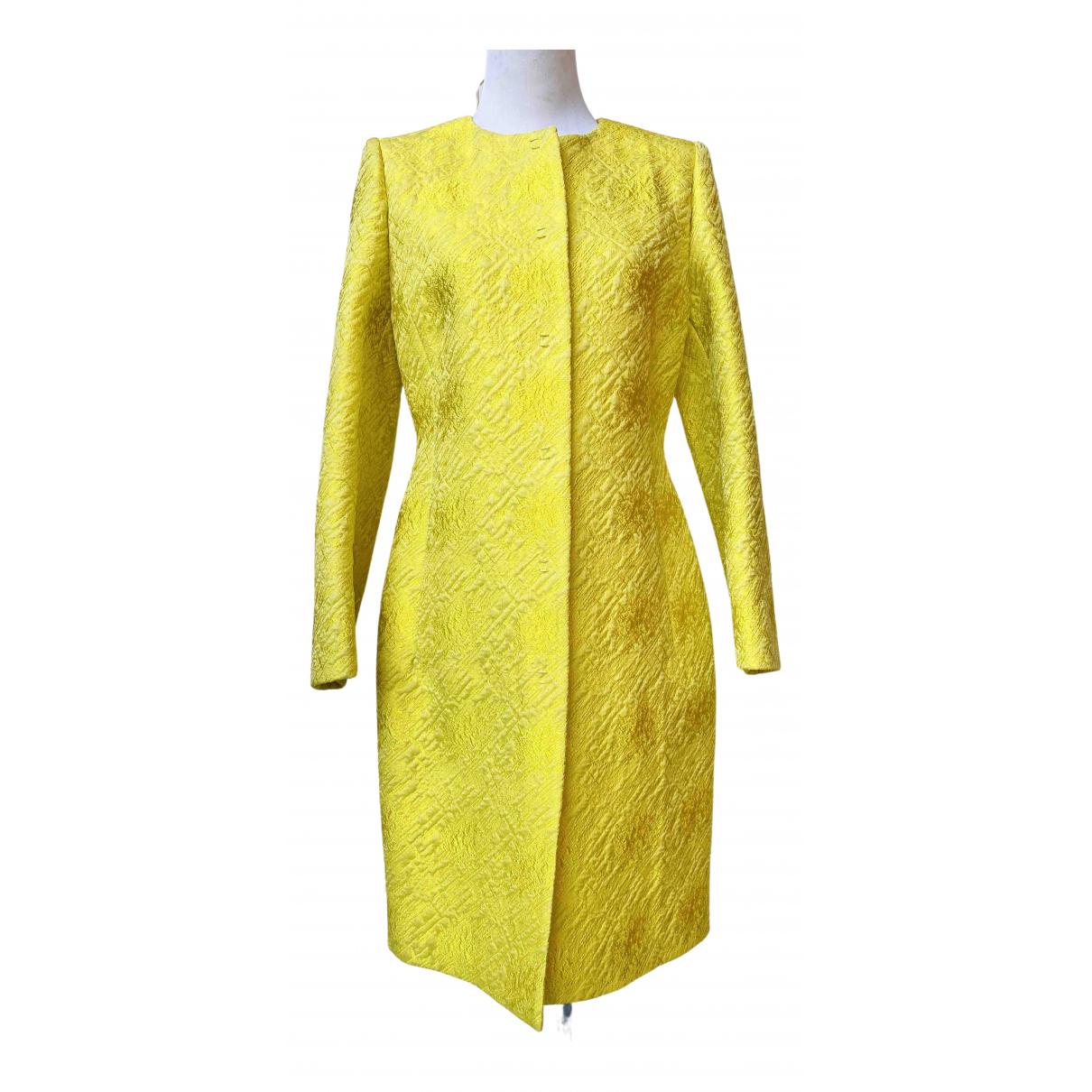 Giambattista Valli - Manteau   pour femme en soie - jaune