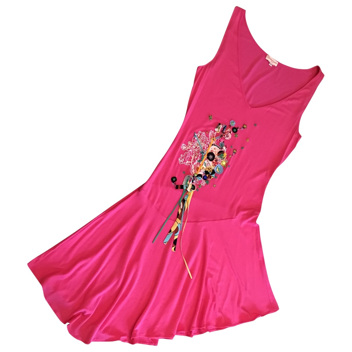 Christian Lacroix \N Pink Cotton dress for Women 38 FR
