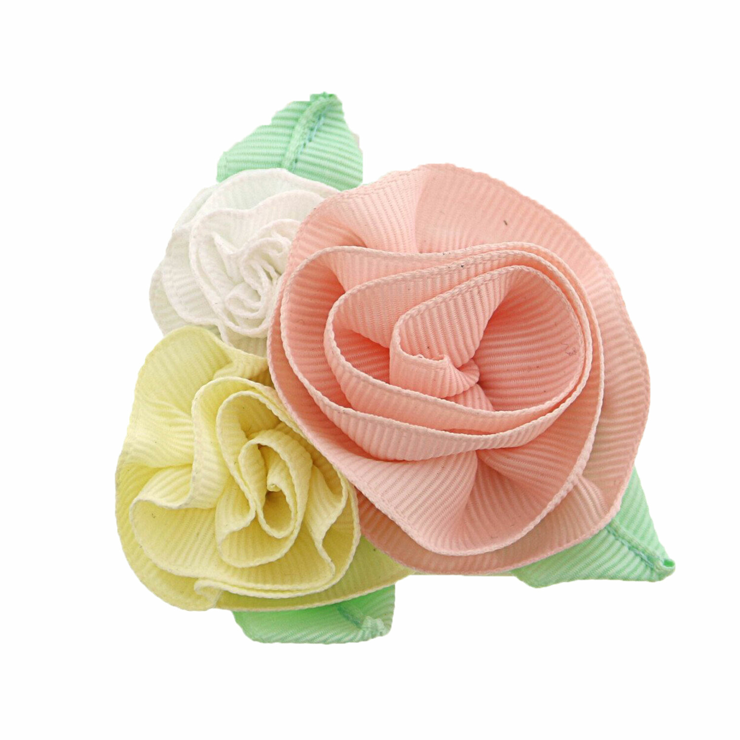 Janie And Jack Rosette Bouquet Barrette Hair Accessory - One Size - Petal Pink