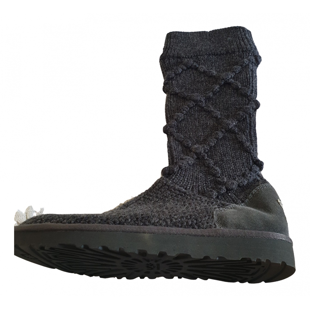 Ugg \N Grey Tweed Ankle boots for Women 39 EU