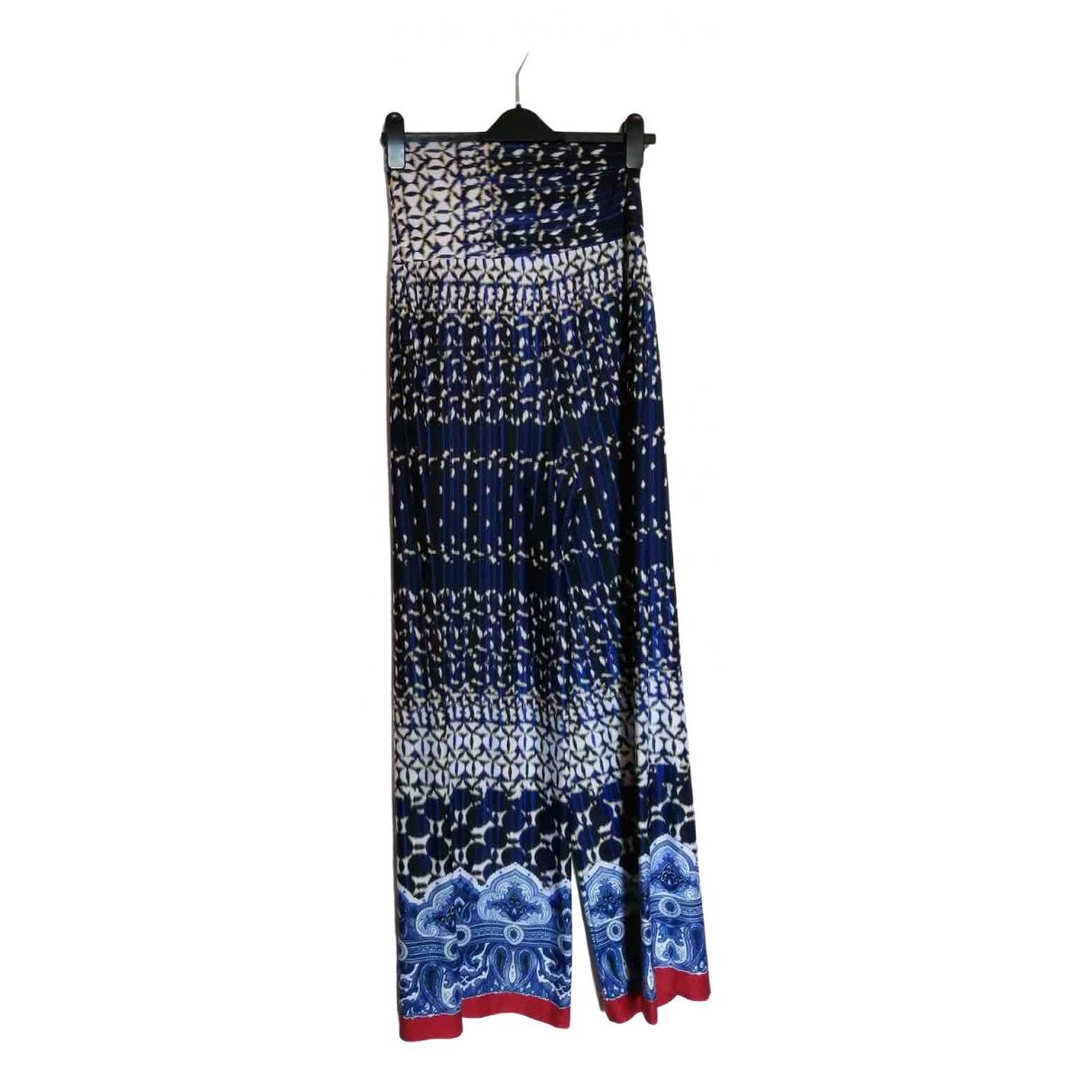 Non Signé / Unsigned Hippie Chic Multicolour Trousers for Women 10 UK