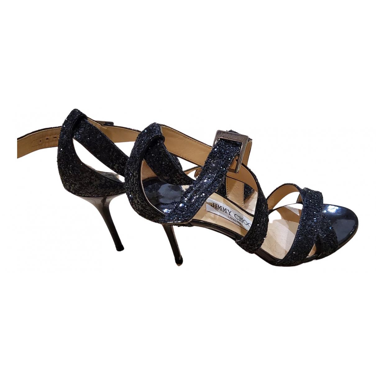 Jimmy Choo N Black Leather Sandals for Women 35 EU
