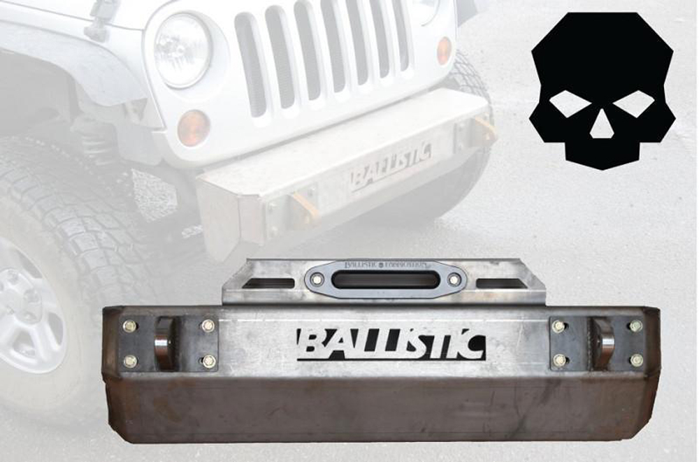 Jeep JK Front Bumper 07-18 Wrangler JK Bare Steel Ballistic Fabrication JK-001-1