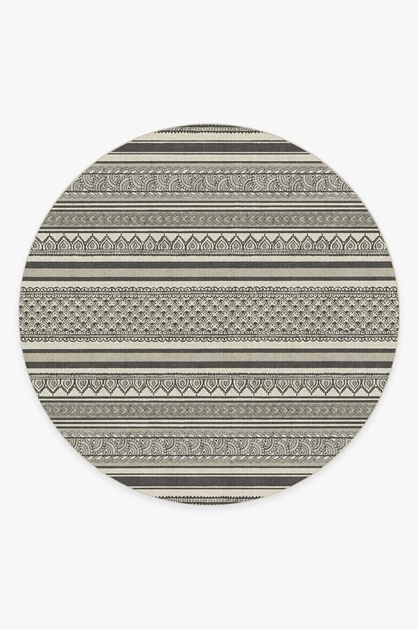 Washable Rug Cover | Nira Charcoal Rug | Stain-Resistant | Ruggable | 8 Round
