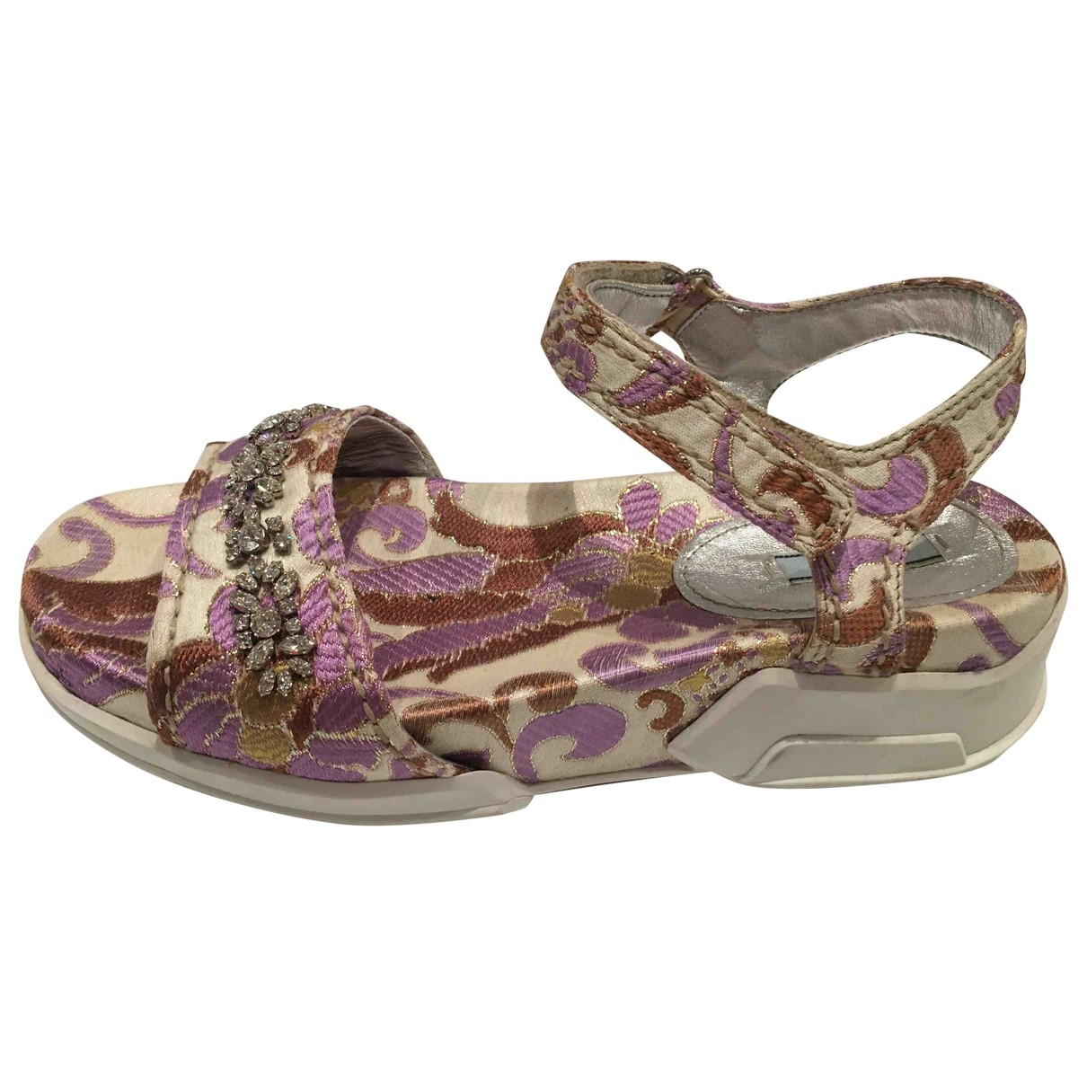Prada \N Purple Cloth Sandals for Women 39.5 EU