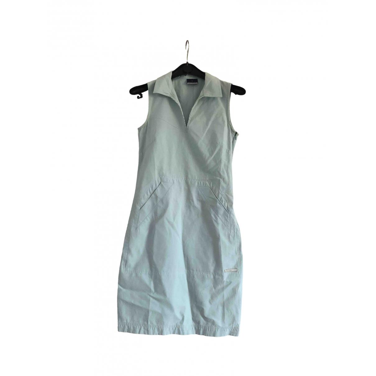 Trussardi \N Kleid in  Marine Viskose