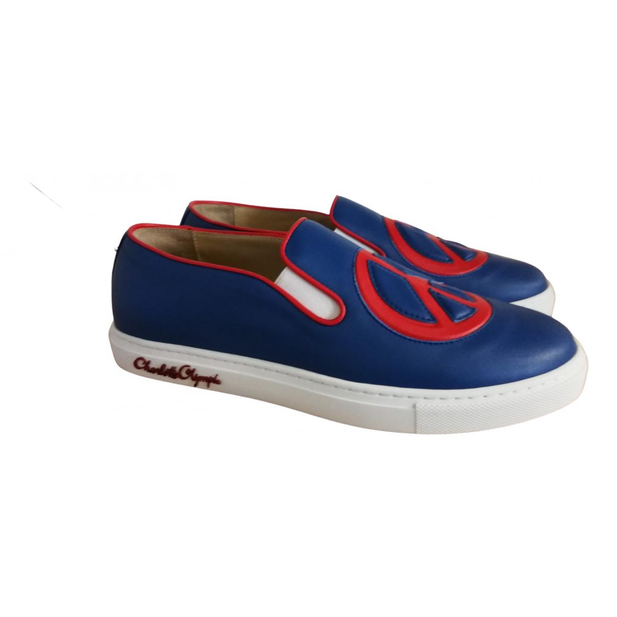 Charlotte Olympia \N Sneakers in  Blau Leder