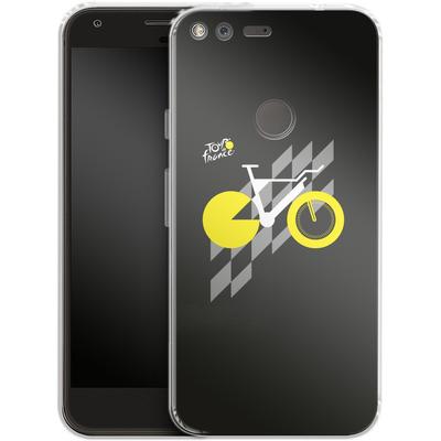 Google Pixel Silikon Handyhuelle - Yellow Bike von Le Tour de France