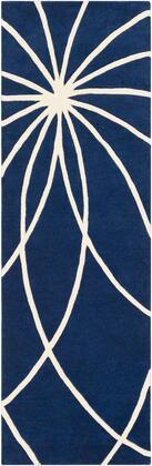 Forum FM-7186 3' x 12' Runner Modern Rug in Dark Blue