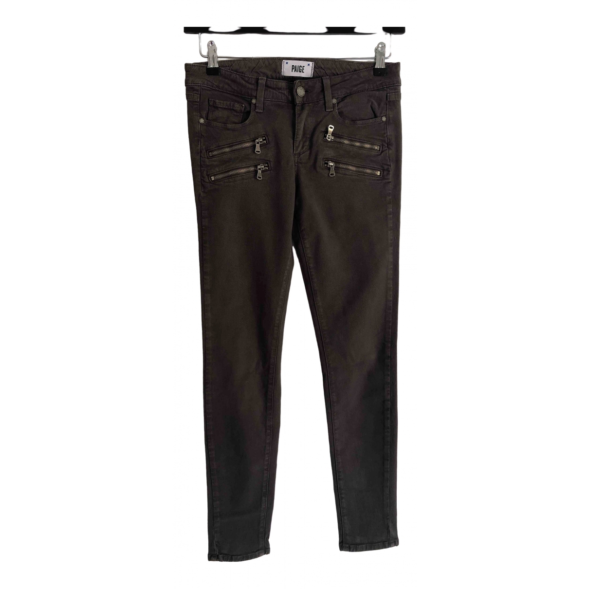 Paige Jeans \N Brown Cotton Trousers for Women S International