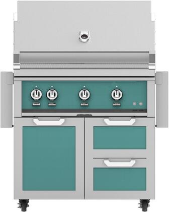 36 Freestanding Natural Gas Grill with GCR36TQ Tower Grill Cart with Three Doors  in Bora Bora