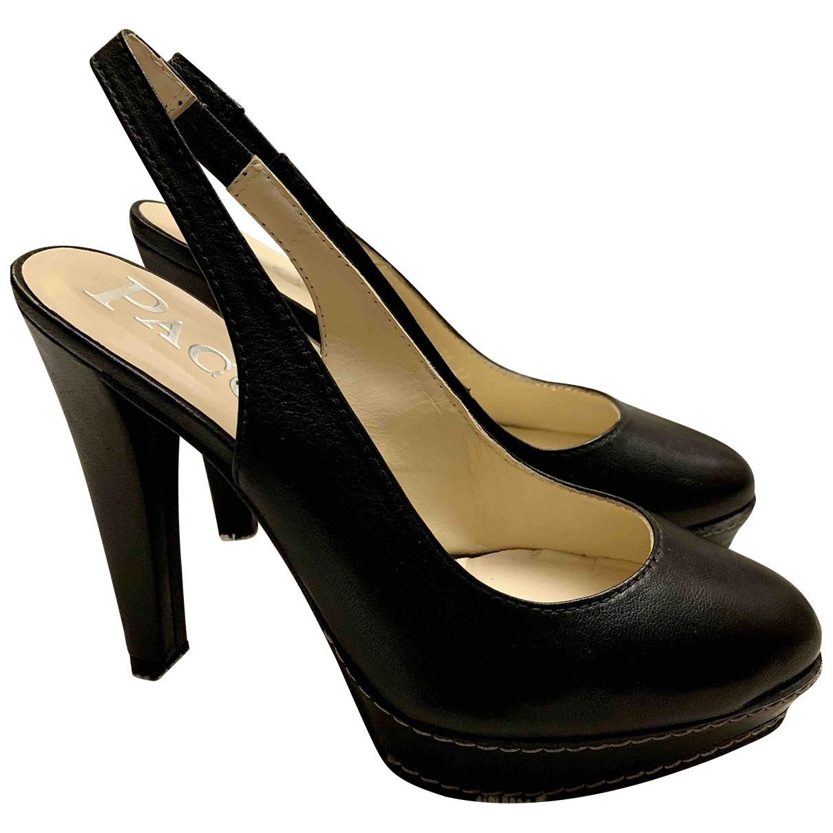 Paco Gil - Escarpins   pour femme en cuir - noir