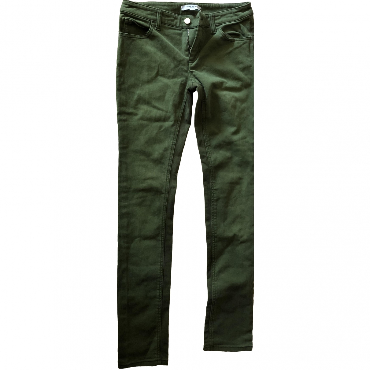 Givenchy \N Green Cotton Trousers for Women 36 FR