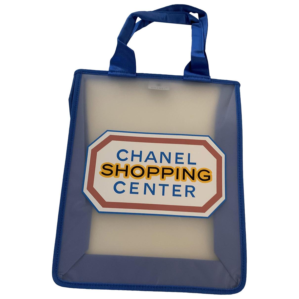 Chanel - Sac a main   pour femme en toile - bleu