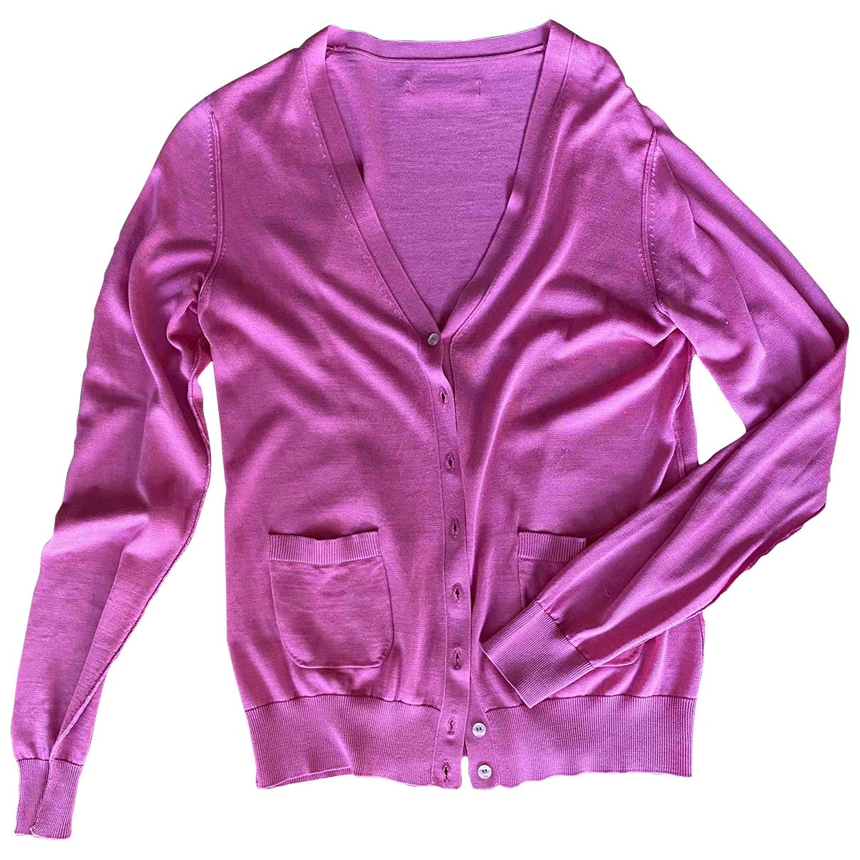 D&g - Pull   pour femme en soie - rose
