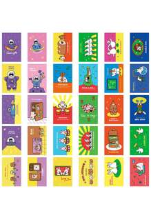 30sheets Cartoon Graphic Random Postcard