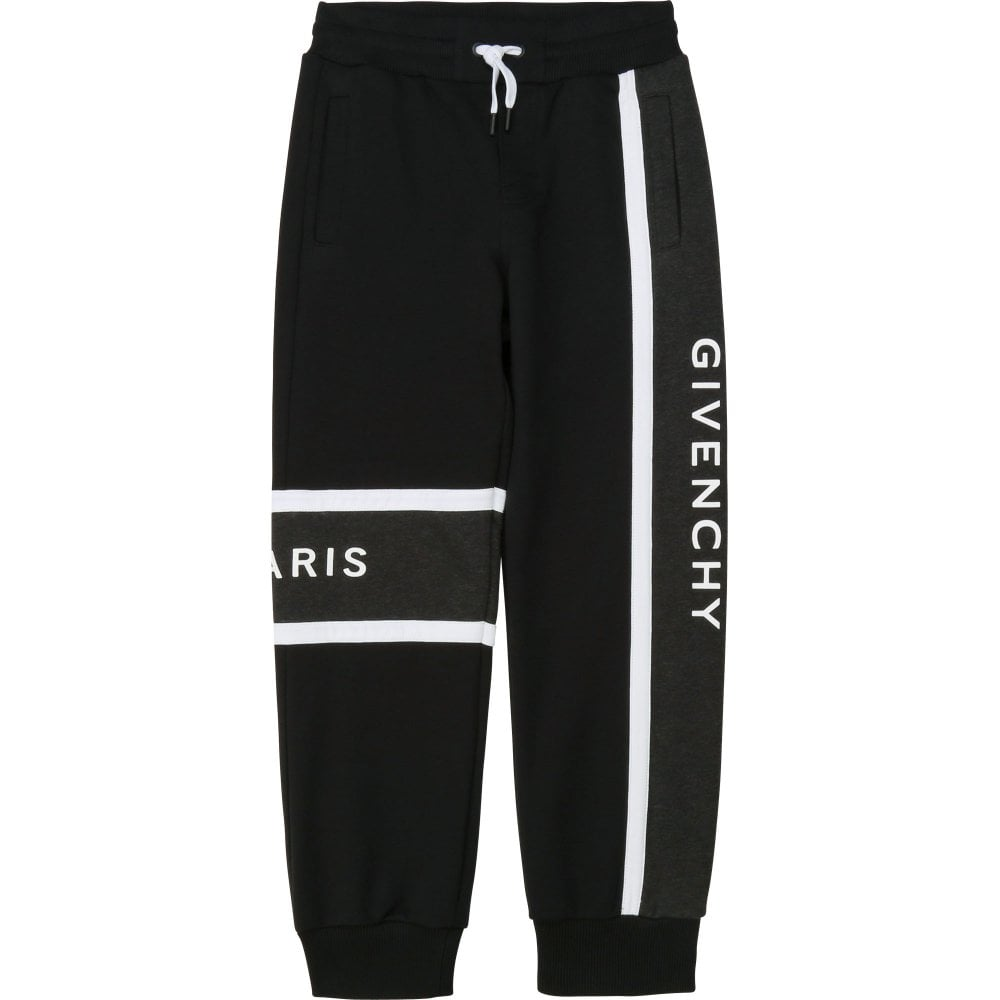 Givenchy Logo Joggers Colour: BLACK, Size: 12 YEARS