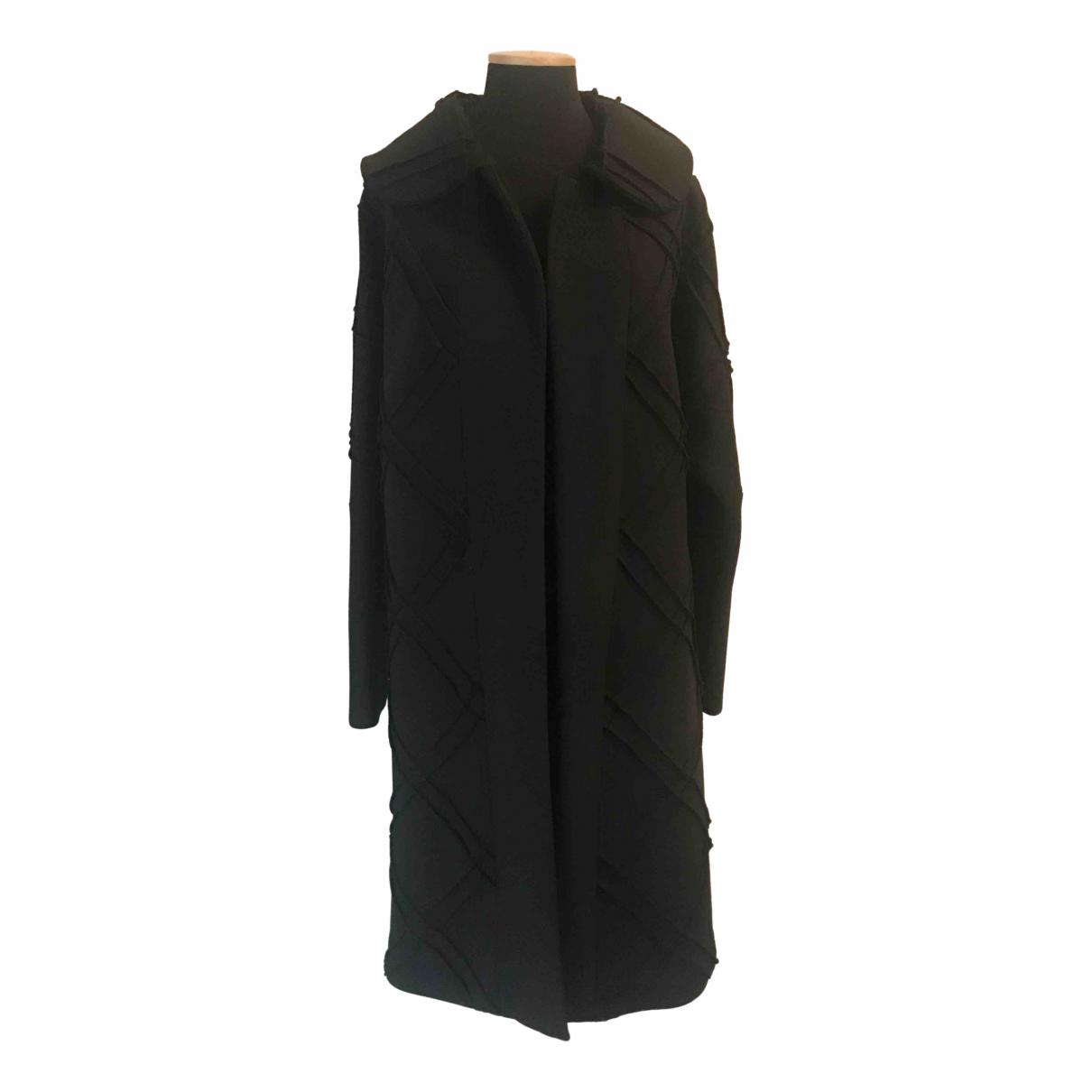 Alberta Ferretti - Manteau   pour femme en laine - noir