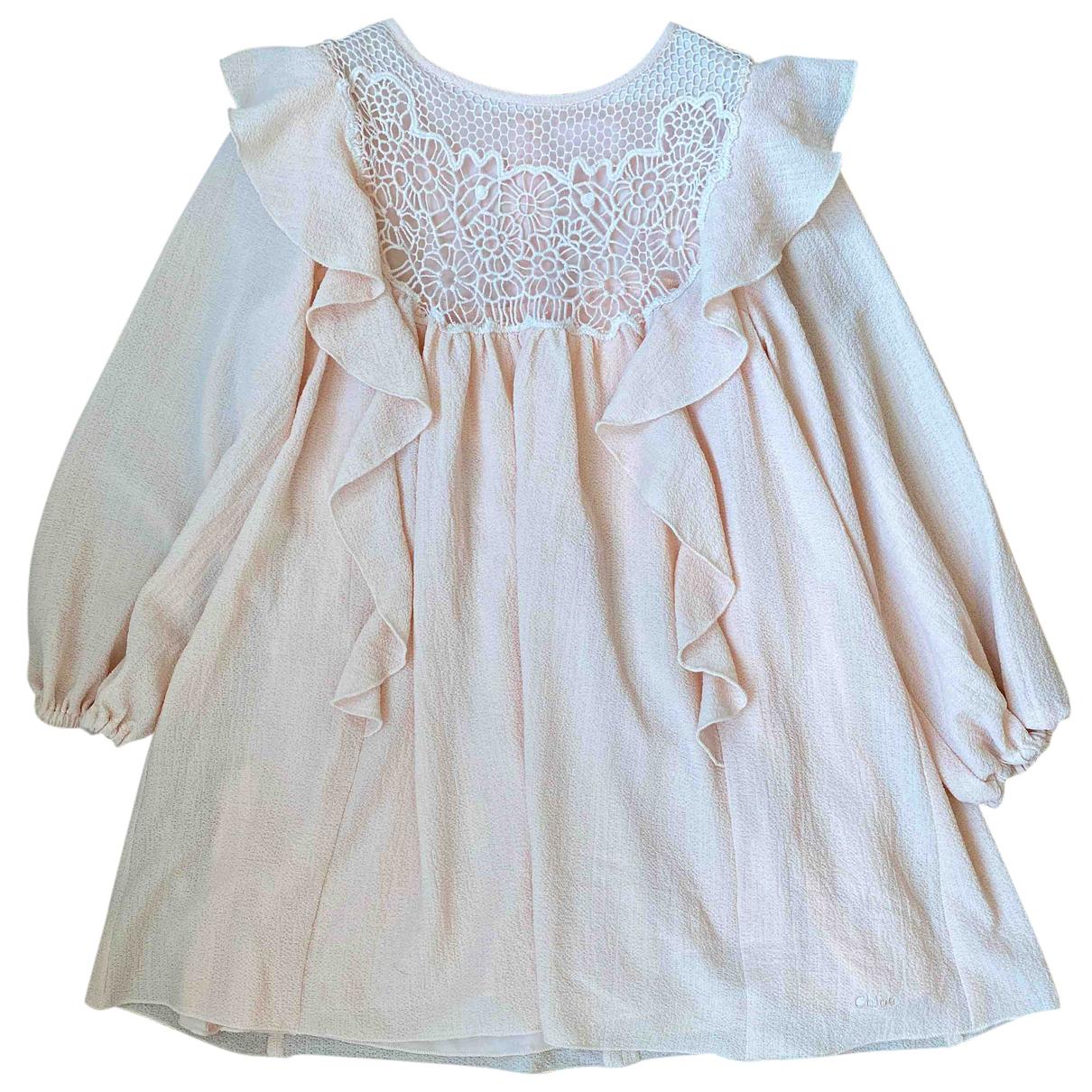 Chloe \N Kleid in  Rosa Polyester