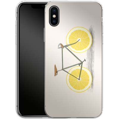 Apple iPhone X Silikon Handyhuelle - Zest von Florent Bodart