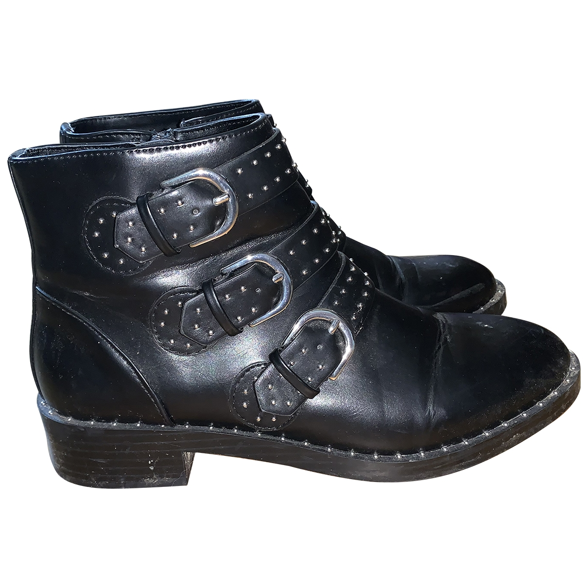 Asos \N Black Leather Boots for Women 39 EU