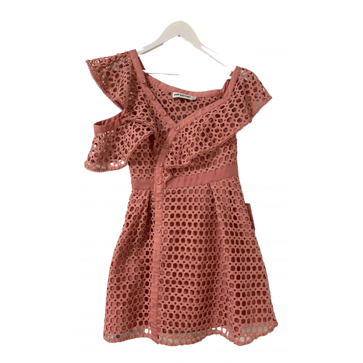 Self Portrait - Robe   pour femme en coton - rose